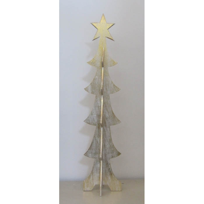Albero Di Natale In Legno.Albero Di Natale In Legno Cm H200 Bianco